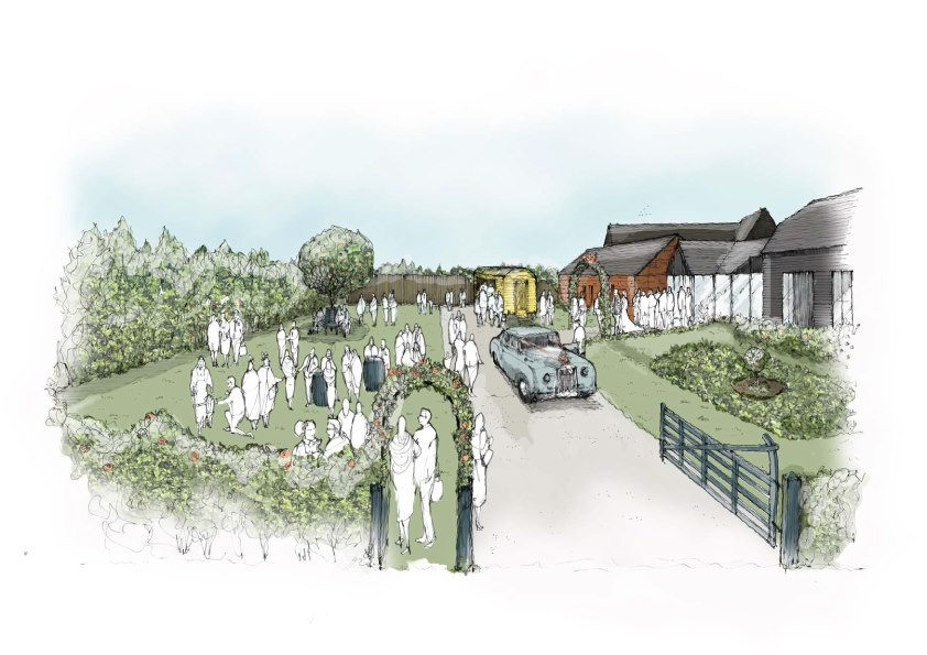 The Wedding Garden at The Waltham Barns new for 2020